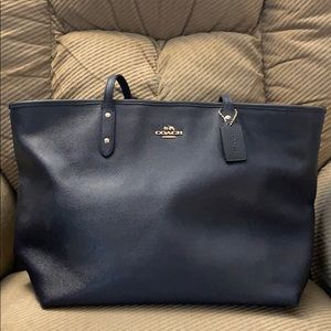 Coach City Zip Tote Large - Midnight Blue